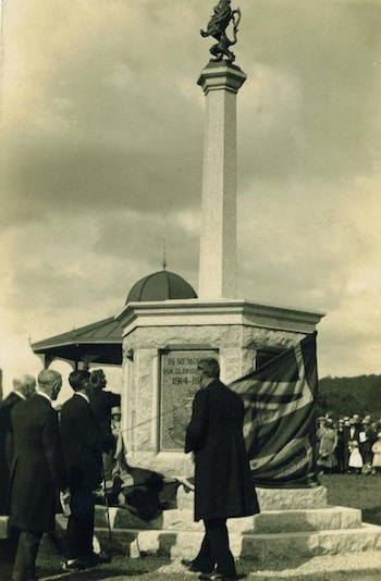 Unveiling the war memorial